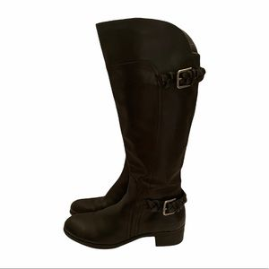 Marc Fisher 100% leather tall riding boots black size 8